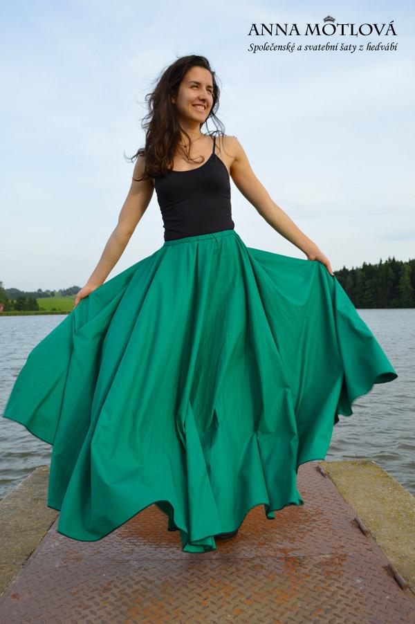 Společenská sukně z bavlny II  535064e7a2